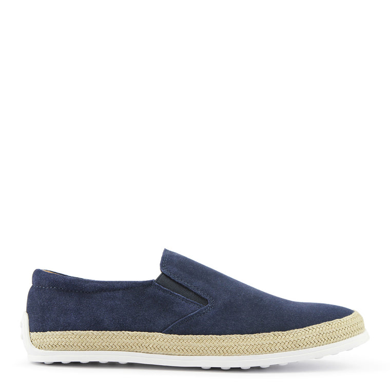 Batsanis Arden Navy Mens Casual Leather Slip On Shoe