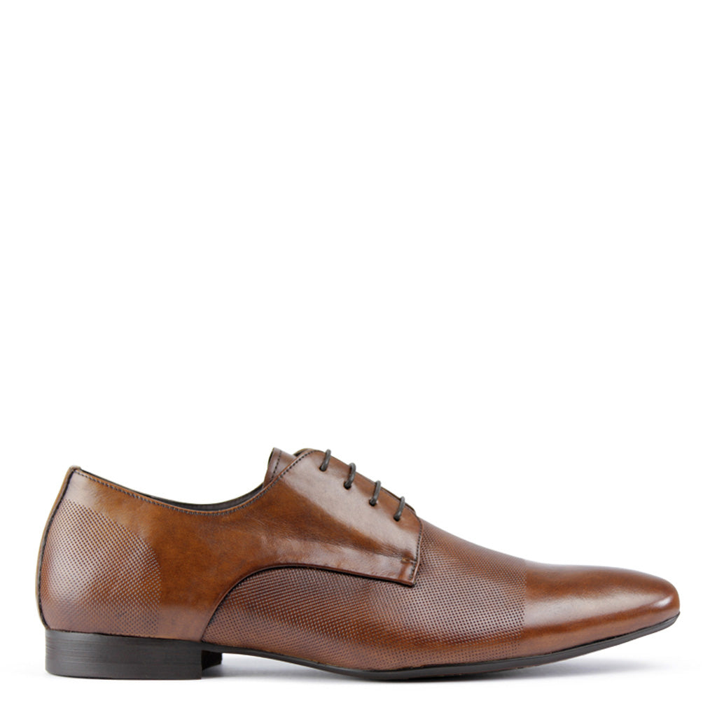 Batsanis Bruce Whiskey Leather Lace Up Mens Shoes