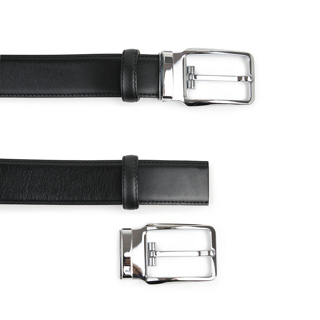 Diesel - Black Leather Belt