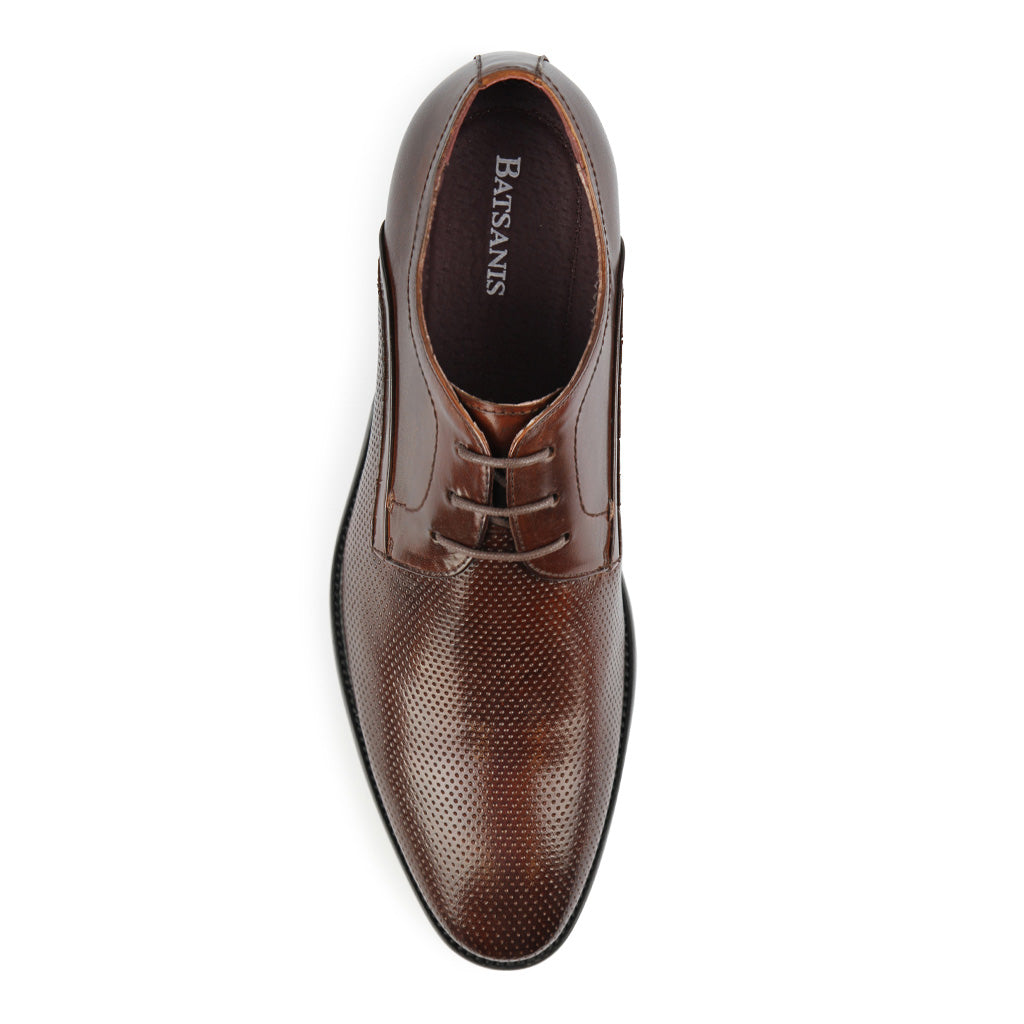 Batsanis Enrico Brandy Leather Lace Up Shoes