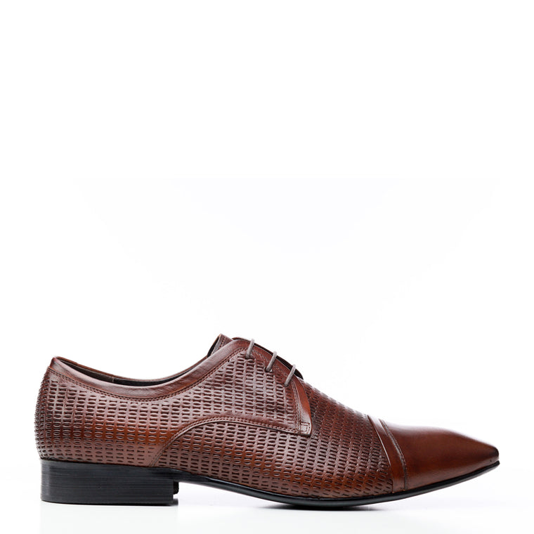 Batsanis Eton Brandy Leather Lace Up Shoes