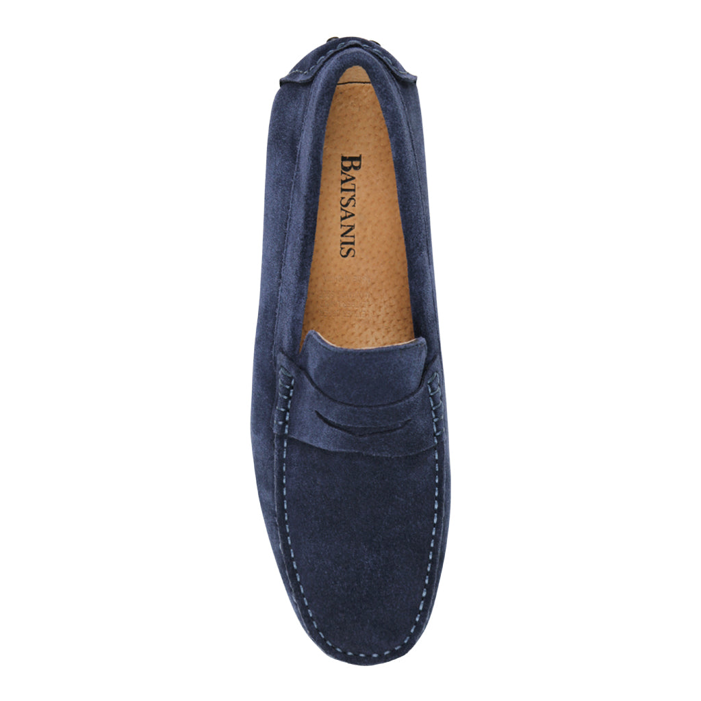 Fabio Navy Driving Shoes