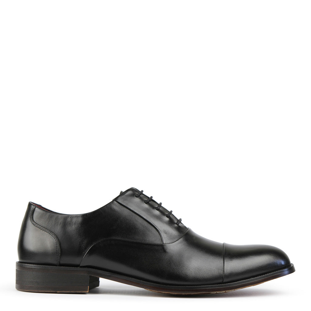 Batsanis Nico Black Leather Lace Up Shoes