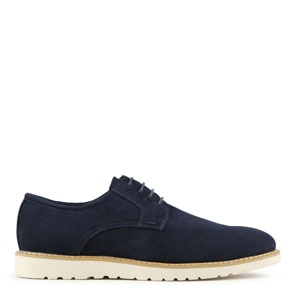 Batsanis Safri Navy Suede Mens Casual Leather Lace Up Shoe