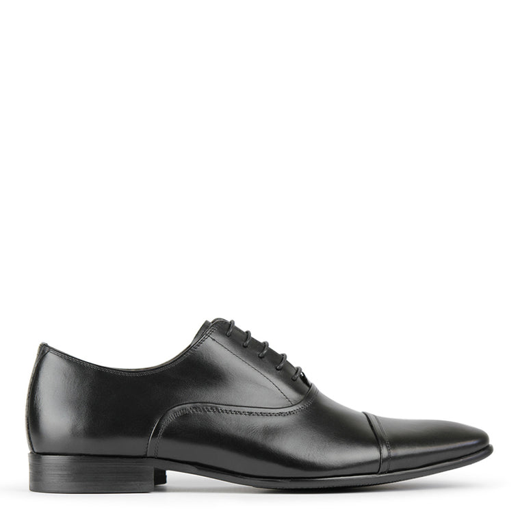 Batsanis Tarson Black Leather Lace Up Shoes