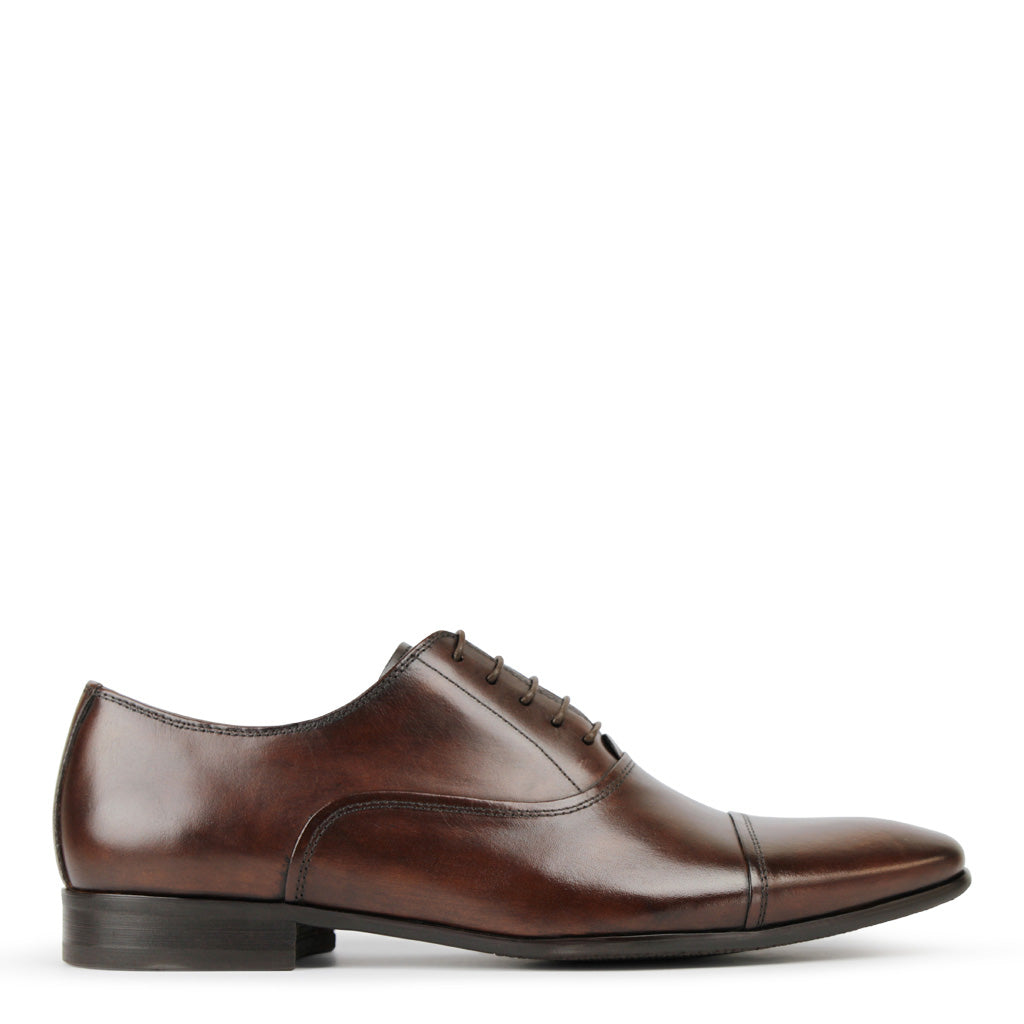 Batsanis Tarson Brown Leather Lace Up Shoes