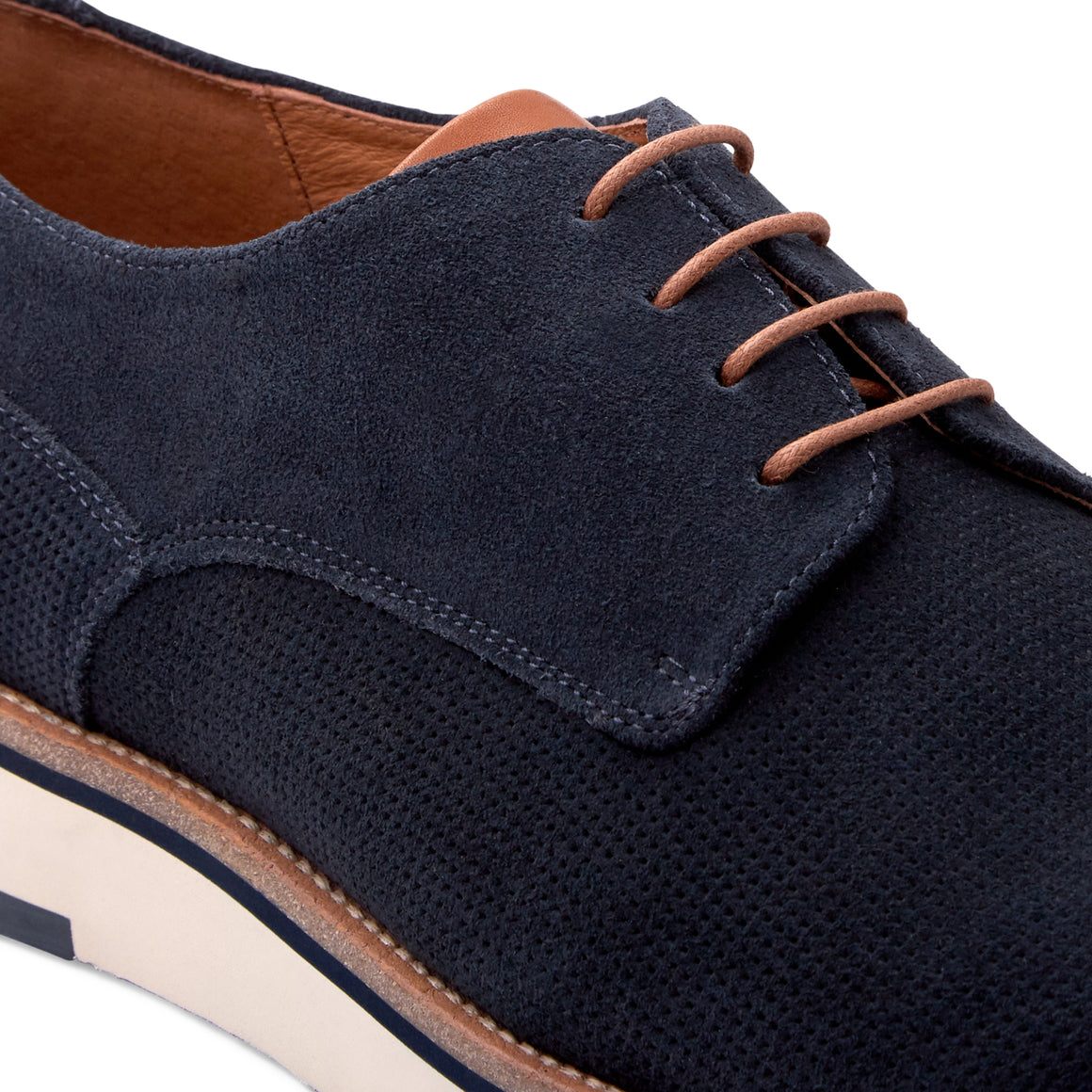Aaron Navy Derby Shoes