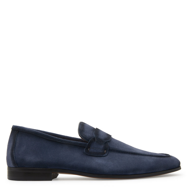 David Blue Suede Loafers