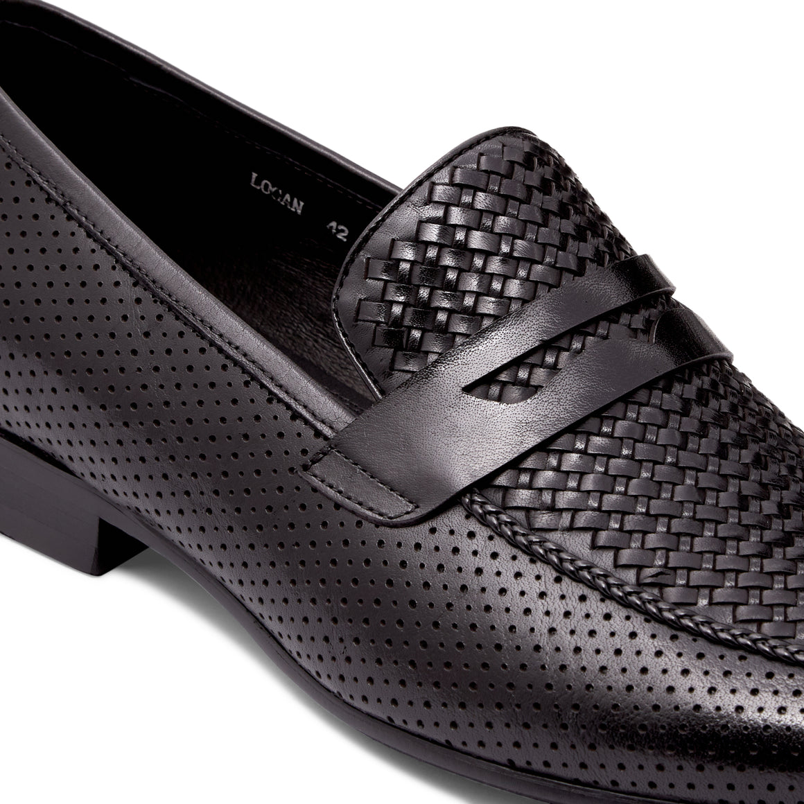Logan Black Loafers