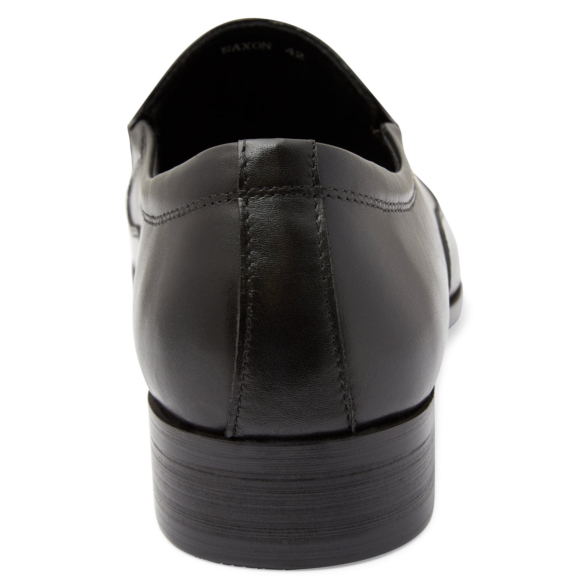 Saxon Black Slip On Shoes