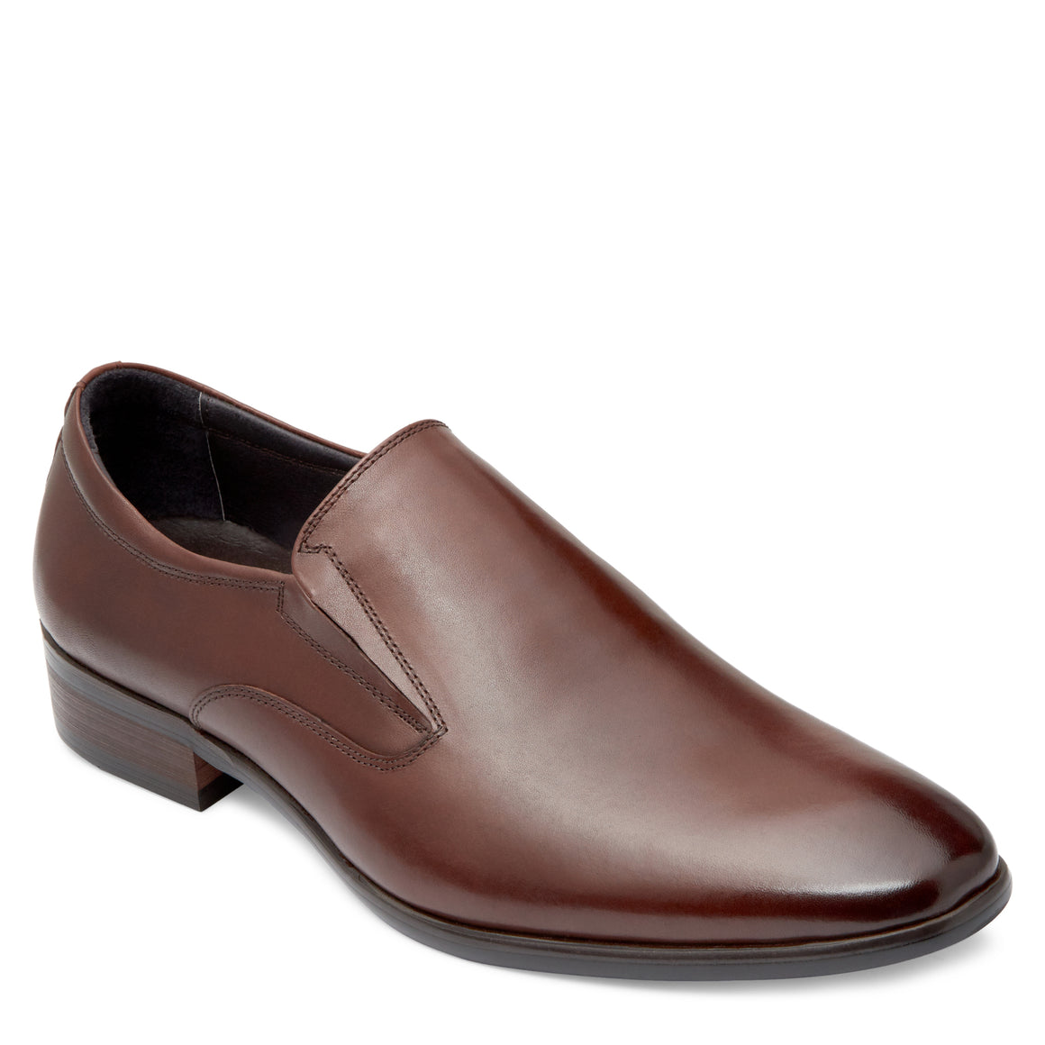 Saxon Brown Slip On Shoes