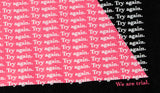 Camiseta TRY AGAIN