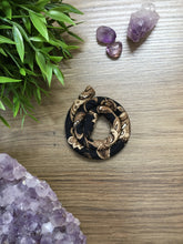 Load image into Gallery viewer, Spiralocks Original Bendable Dreadlock Hair Tie - 40cm - Black Floral