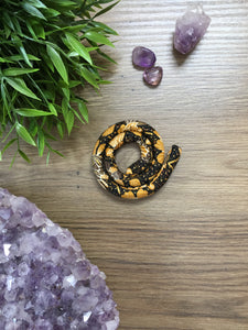 Spiralocks Original Bendable Dreadlock Hair Tie - 40cm - Orange Floral