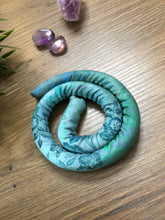 Load image into Gallery viewer, Spiralocks Original Bendable Dreadlock Hair Tie - 40cm - Green Floral