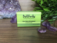 Load image into Gallery viewer, Dollylocks Tea Tree Spearmint Travel Shampoo Bar