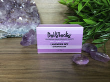 Load image into Gallery viewer, Dollylocks Lavender Sky Travel Size Shampoo Bar