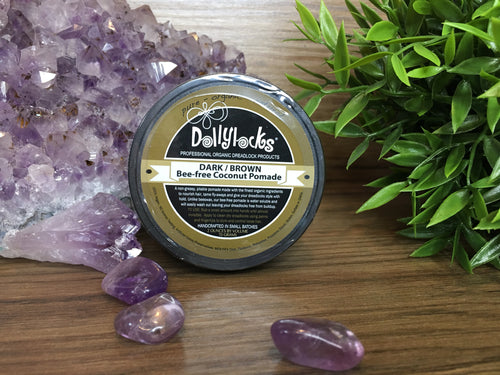 Dark/Brown Bee-Free Coconut Pomade Dollylocks Styling Product (66g)