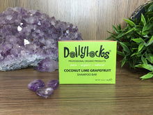 Load image into Gallery viewer, Coconut Lime Grapefruit Dollylocks Shampoo Bar (127g)