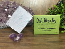 Load image into Gallery viewer, Tea Tree Spearmint Dollylocks Shampoo Bar (127g)
