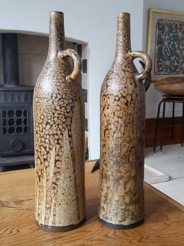 A pair of beautiful ceramic vases by Dutch artist Hannie Mein