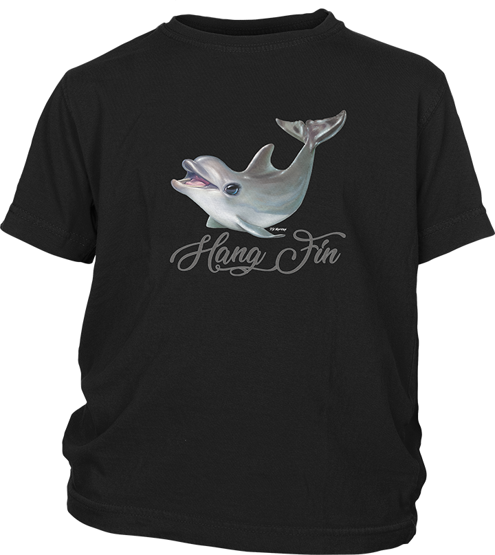 Youth Short Sleeve T-shirt with Dolphin Imprint