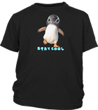 Youth Short Sleeve T-shirt with Penguin Imprint