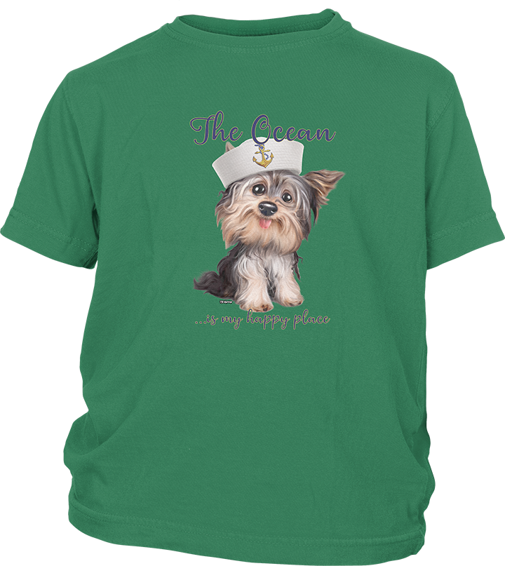 Youth Short Sleeve T-shirt with a Yorkie Imprint