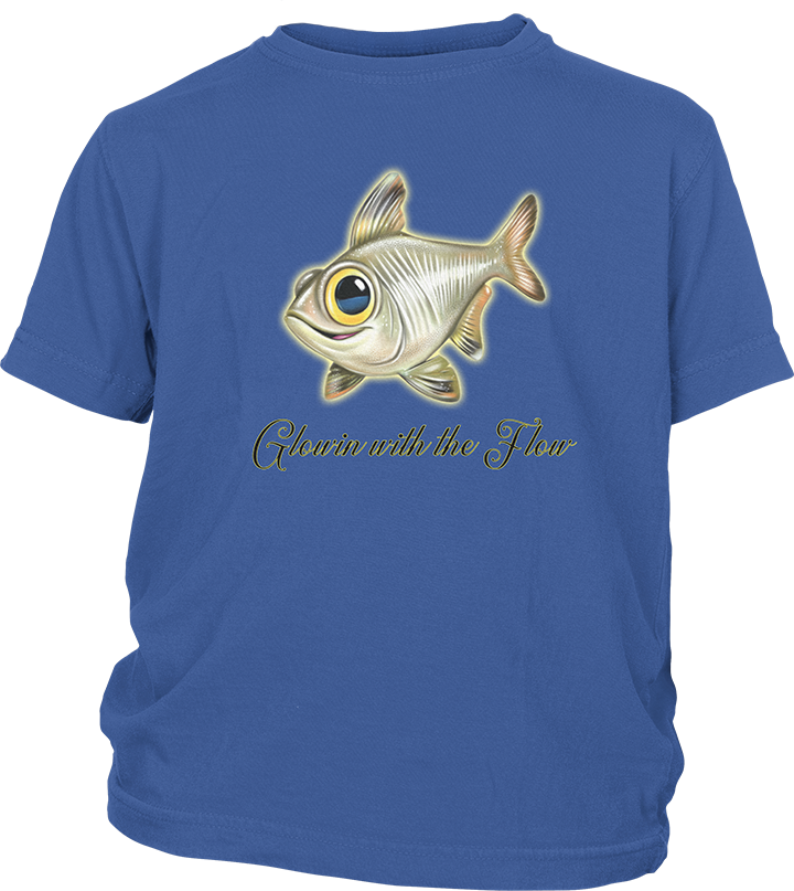 Youth Short Sleeve T-shirt with Fun Fish Imprint 13414