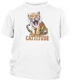 Youth Short Sleeve T-shirt with Tiger Imprint