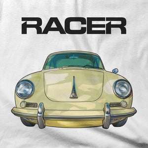 Porsche 356C Illustrated - White Short Sleeve Hanes Beefy-T