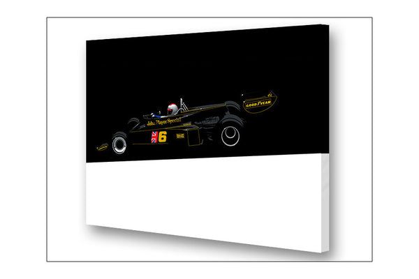 Ricardo Santos Lotus 77 Archival Canvas and Paper Limited Edition Print