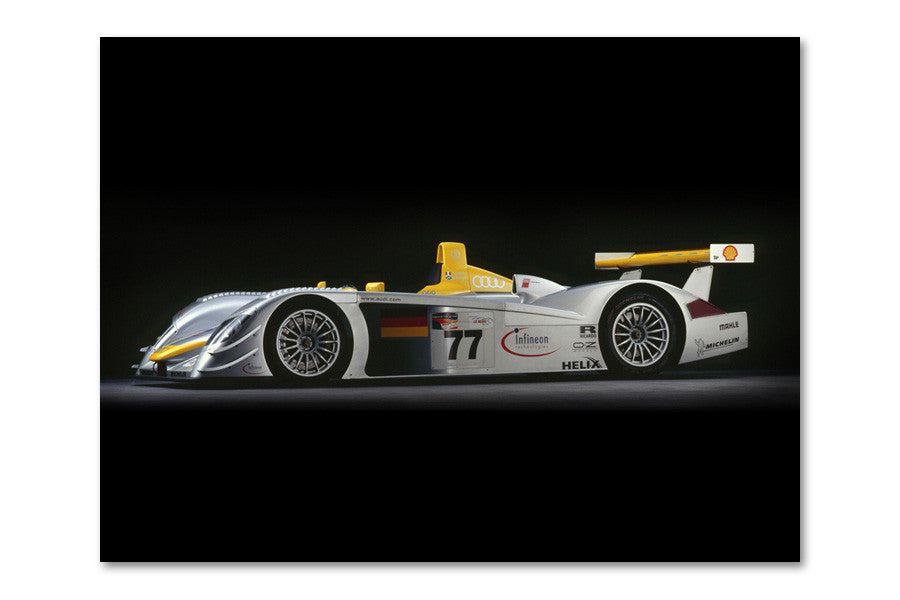 Audi R8 LMP Side View Archival Canvas and Photograph Limited Edition Print