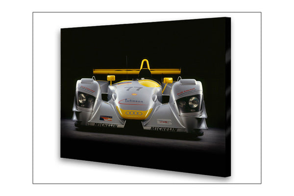 Audi R8 LMP Front View Archival Canvas and Photograph Limited Edition Print