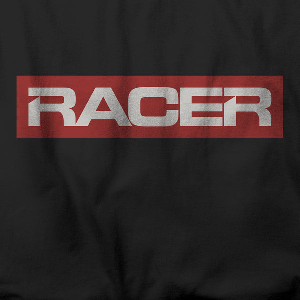 "RACER ""Big Logo"" Short Sleeve Black Hanes Beefy-T"