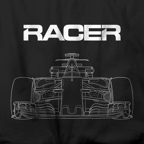 Grand Prix Car Line Art 2 - Black Short Sleeve Hanes Beefy T