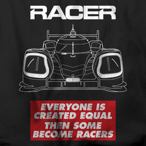 "RACER Prototype ""Some Become Racers"" Short Sleeve Black Hanes Beefy-T"