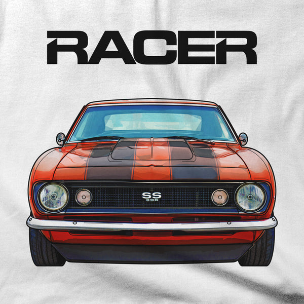 Camaro SS396 Illustrated - White Short Sleeve Hanes Beefy-T