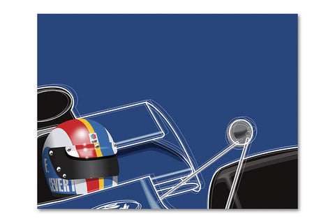 Ricardo Santos François Cevert Archival Canvas and Paper Limited Edition Print