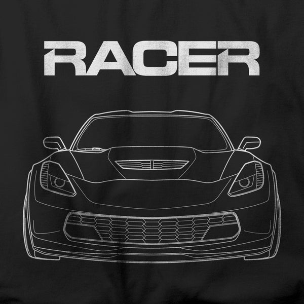 Corvette Z06 Line Art - Black Short Sleeve Hanes Beefy-T