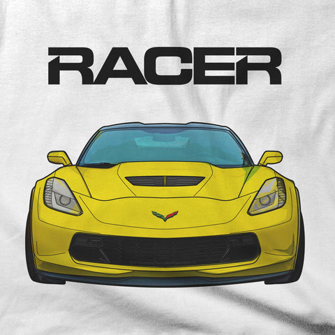 Corvette Z06 Illustrated - White Short Sleeve Hanes Beefy-T