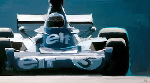 Doug Garrison — Jackie Stewart in the elf Tyrrell, 1973 Limited Edition Print