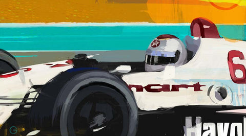 Doug Garrison — Mario Andretti's final win at Phoenix, 1993 Limited Edition Print