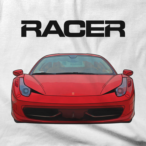 Ferrari 458 Illustrated - White Short Sleeve Hanes Beefy-T