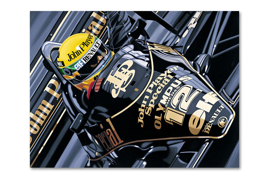 Ayrton Senna 1985 Portuguese Grand Prix Archival Canvas Limited Edition Print