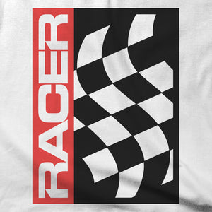 RACER Flag Icon - Short Sleeve Hanes Beefy T