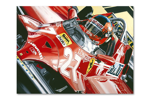 Gilles Villeneuve 1981 Monaco G.P. Archival Canvas Limited Edition Print