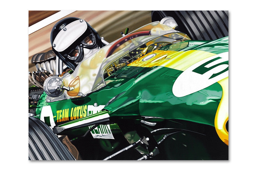 Jim Clark Silverstone 1967 Archival Canvas Limited Edition Print
