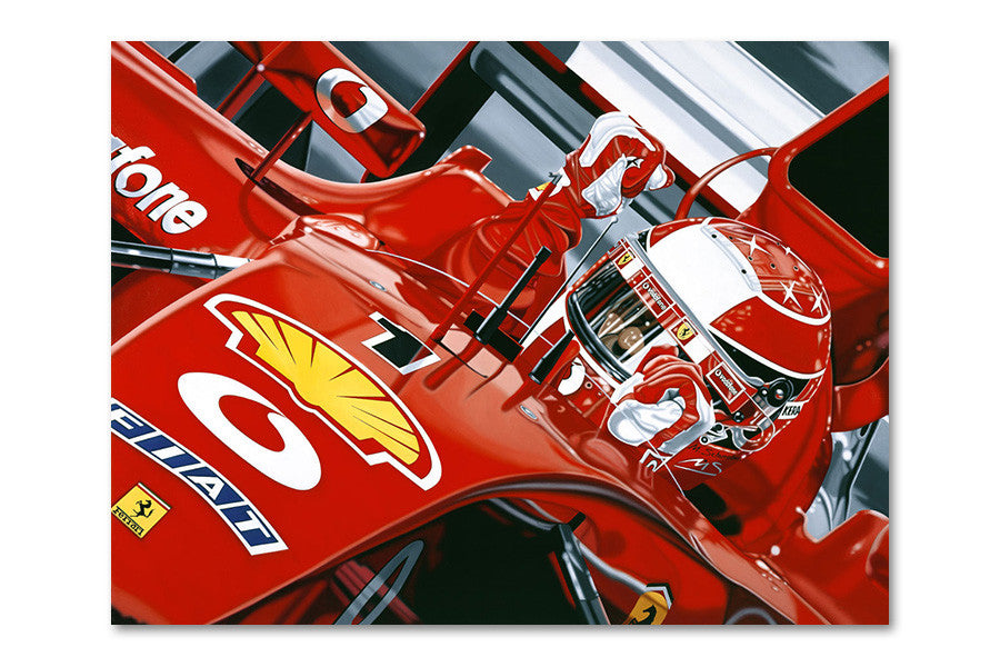 Michael Schumacher 2002 French GP Archival Canvas Limited Edition Print