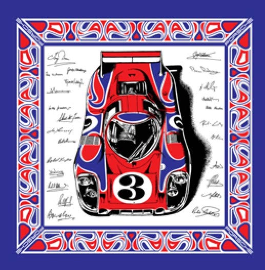 "Paul Laguette — 1970 ""Hippie Car"" Scarf Homage"
